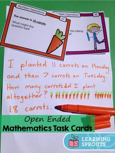 "open math problems An open-ended problem that i often use at the beginning of the year is ""the weather problem"" it is fairly straightforward and gets the students' number sense."