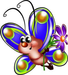 """Photo from album """"Рисованные бабочки"""" on Yandex. Butterfly Spirit Animal, Cartoon Butterfly, Butterfly Clip Art, Cartoon Drawings, Easy Drawings, Drawing For Kids, Art For Kids, Cute Images, Cute Pictures"""