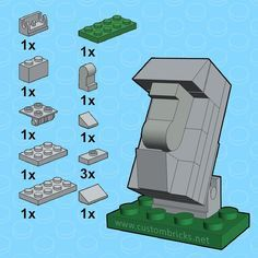 Its almost Easter so here is the parts list for my micro Moai of Rapa Nui build (Easter Island Heads) #lego #moai #legobuild #easterisland