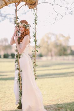 Beautiful classic bohemian wedding gown and flower crown inspiration // Five Questions with bridal designer Celest Thoi