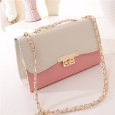 Crossbody Bag Mulheres PU Leather Casual Bag Doce Ombro