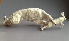 An amazing piece of borzoi porcelain. Haven't seen it before.