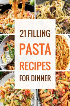 Serve one of these easy pasta recipes for dinner tonight!