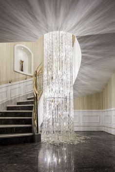 Huang of new work --- Nanjing Zhongshan Golf six villa . Luxury Chandelier, Luxury Lighting, Custom Lighting, Cool Lighting, Chandelier Lighting, Modern Lighting, Lighting Design, Chandeliers, Lighting Ideas