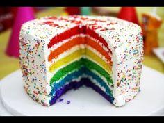 Как приготовить радужный торт? - YouTube