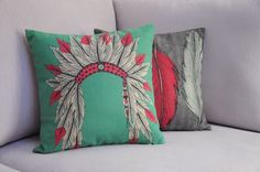 Indiana Tiara and Feather Pattern Cushion Vintage Pillows Decorate Sofa Cover   eBay $29.50 - Fabric products: 100% natural linen. Description: Not include pillow core, containing only the pillow cover Specification (About18in*18in) manual sewing reason may have errors of 2 to 3 cm