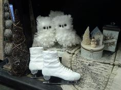 look how cute they are snuggled together! Feather owls, $13.99  Rodworks - A Natural Winter Wonderland - Rodworks