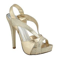 Women's Ruby Dress Sandal with Straps - Champagne- Delicious