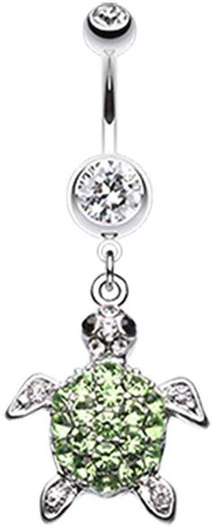 Surgical Steel Belly Ring WIth Antique FInish Dangle Starfish 1.6mm 14g