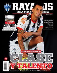 Conoce más de nuestro jugador albiazul Edwin Cardona en la Revista #Rayados del mes de abril. ¡Adquiérela ya!