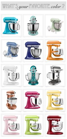 WIN a KitchenAid Artisan Stand Mixer! What color would you like?