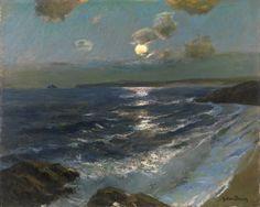 Twilight Moon 1864-1942 - Albert Julius Olsson (1864-1942)