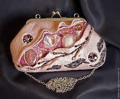 """Купить Вечерняя сумочка """"Розовый сон"""" - клатч, сумочка, сумка, клатч валяный, клатч войлок"""