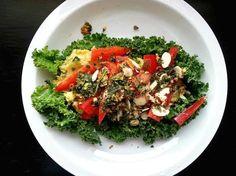 "Vegan Chickpea ""Egg Salad"" Served Over Kale by @cfdgirl http://mbg.to/qSKAbw7"