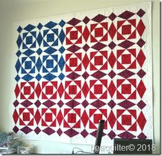 american flag quilt with accuquilt qube set Quilting Projects, Quilting Designs, Quilting Ideas, Quilting Patterns, Sewing Projects, Patriotic Quilts, Patriotic Crafts, Patriotic Party, July Crafts