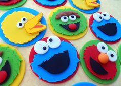 Sesame Street Cake Toppers | 16 SESAME STREET Edible Cake Toppers. RESERVED by SWEETandEDIBLE