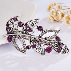 2016Vintage Hairs Accessories Butterfly Hair Clip For Women Girls Imitation Crystal Metal Hair Barrettes Jewelry Ponytail Holder