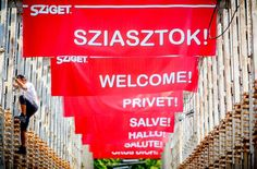 SZIGET is one of the most popular open air music festivals in the world, located on an island in Budapest. Photo by Sandor Csudai | Sziget.