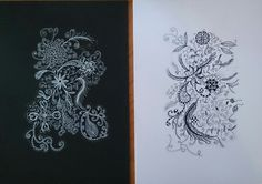 Zentangle doodles for Mum by Chrissie Wingate.