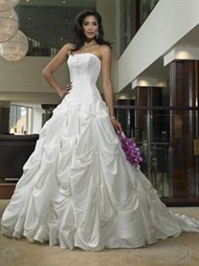 Vintage Ivory Strapless Dropped Waist Princess/Ball Gown wedding bridal dress   $234.00