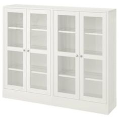 HAVSTA Glass-door cabinet with base - gray, clear glass - IKEA Glass Cabinet Doors, Sliding Glass Door, Glass Doors, Scandinavian Furniture, Scandinavian Design, Solid Pine, Solid Wood, Billy Oxberg, Plastic Foil