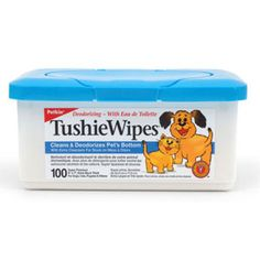Image for Tushie Wipes for Cats and Dogs 100 Pack Tub from Pets At Home £7.50