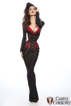 """$300   Vampy  retail $350 Size 20/18 Extreme Curve Long Line Corset from Castle Corsetry  This corset is meant to fit someone with a waist measurement ranging from 22"""" to 26"""". If you fit in this range please comment here first come first served! Then PM me with the following info: Which corset you're after (copy of photo helps) Shipping City Email Address for Paypal Payment Measurements: bust underbust waist and hip to confirm correct sizing  USA Shipping can range from $8-15 International…"""