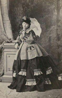 1865 crinoline veste avec poches