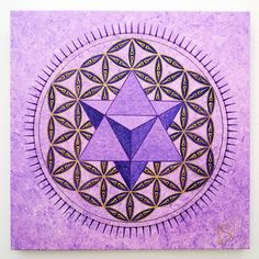 El Merkaba en la Flor de Vida - Arte de Geometría Sagrada