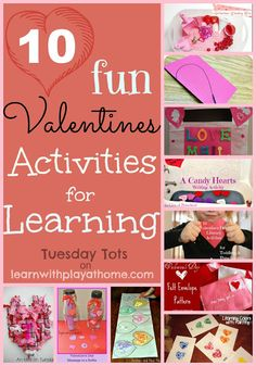 Pinning this for next year. 10 Fun Valentines Activities for Learning {Learn with Play at Home}