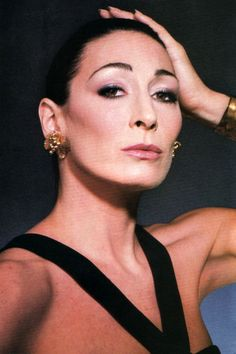 Angelica Huston, American Vogue, September 1985. Photograph by Andrea Blanch.