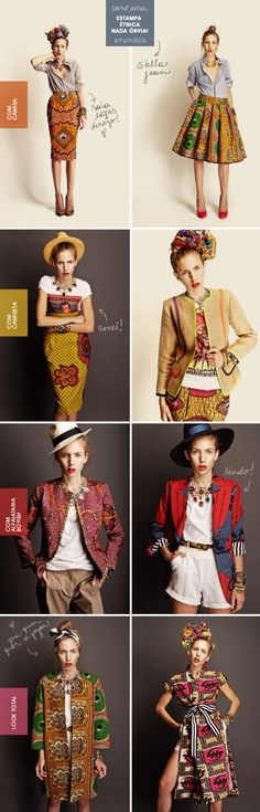 African Print Dress and Skirts