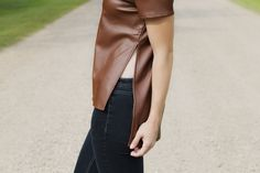 Michele Top | MADA Boutique Fall 2015, Vegan Leather, Leather Skirt, Boutique, Skirts, Collection, Tops, Fashion, Moda