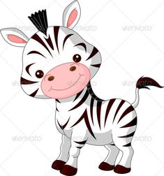 Fun zoo. Zebra - Animals Characters