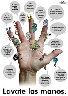 Please Wash Your Hands! Teaching Spanish, Teaching Kids, Spanish Class, Hand Washing Poster, Health And Wellness, Health Fitness, Hand Hygiene, Science, Weight Loss Goals
