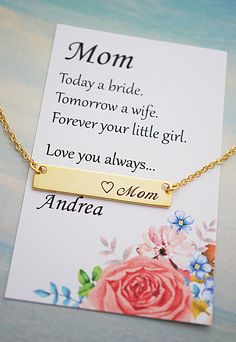 Mother of the Bride gift necklace from EarringsNation Mother in law gift Mothers day gift Mother daughter gift
