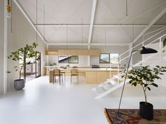 House in Yoro by Airhouse Design Office [Stunning home and did you notice that the walls were made from (I think) whitewashed plywood? I also love the painted (white) metal structural beams! Oh Japan, you do me right!]