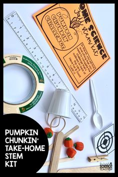 Celebrate fall in your 4th-8th grade Science classroom with this fun and engaging PUMPKIN CHUNKIN TAKE-HOME STEM KIT. Whether you are having to social-distance in the classroom or sending work home with your students for hybrid learning, this activity will provide your upper elementary and middle school science students with a fall-themed activity that is both challenging and engaging! #thetrendyscienceteacher #athomescienceactivities #takehomescience #fallscienceactivities #pumpkinchunkin