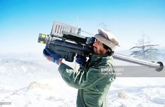 A guerrilla soldier aims a stinger missle at passing aircraft near a remote rebel base in the Safed Koh Mountains February 10, 1988 in Afghanistan. The end of Soviet military occupation, which began in 1979, has left the Afghan Army more vulnerable to these guerrilla forces, who are fighting the Russian-installed Afghan government.