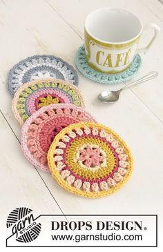 Breakfast Flavours pattern by DROPS design - Garn Deko Crochet Kitchen, Crochet Home, Crochet Granny, Crochet Doilies, Knit Crochet, Thread Crochet, Easy Knitting Projects, Crochet Projects, Knitting Patterns