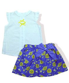 Daisies and Conkers Conkers, Work Tops, Evie, Girls Wear, Daisies, Kids Clothing, 3 Months, Blue Yellow, Pretty Dresses