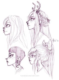 Image result for face side profile drawing anime