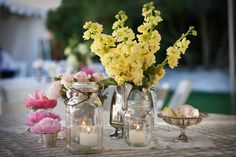 Os vamos a dar una lista de sugerencias acerca de la presentación de las velas en las mesas el dia de vuestra boda