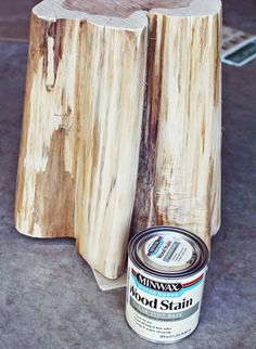 great how to for DIY tree stump side tables - but i would probably nix the wheels and use felt on the bottom