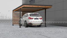 Le plus à jour Instantanés steel pergola carport Style Carport Garage, Pergola Carport, Wood Pergola, Deck With Pergola, Patio Roof, Pergola Patio, Pergola Plans, Attached Pergola, Patio Grill