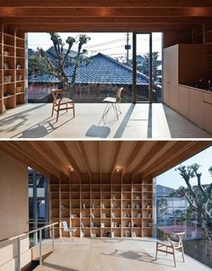 Narrow contemporary courtyard home. Mount Fuji Architects.