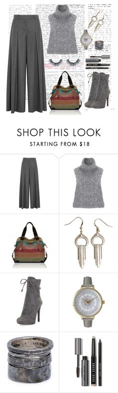 """Grey love"" by bravo1755 ❤ liked on Polyvore featuring J.Crew, Vika Gazinskaya, Flea Market Girl, Prada, Olivia Pratt, Lee Brennan Design and Bobbi Brown Cosmetics"