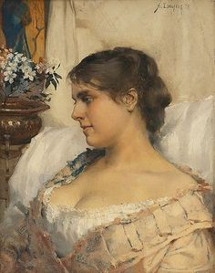 Albert Edelfelt 1854-1905  Ung kvinna i sin boudoir 1879