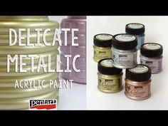 Metálfesték sok színben Annie Sloan, Baking Ingredients, Metallica, Decoupage, The Creator, Delicate, Diy, Painting, Creative