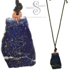 ESCartists 2015 - Shalini Austin: Artisan jeweller & metal-smith based in Lapis Lazuli Pendant, Jewelry Gifts, Jewellery, Line Shopping, Stone Cuts, Copper Jewelry, Wire Wrapped Jewelry, Handcrafted Jewelry, My Design